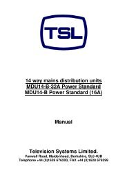 14 way mains distribution units MDU14-B-32A Power ... - TSL