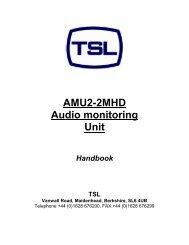 AMU2-2MHD Audio monitoring Unit - TSL