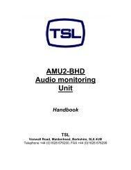 AMU2-BHD Audio monitoring Unit - TSL