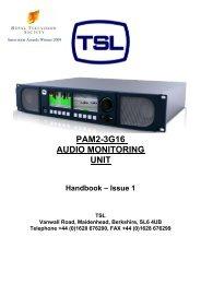 PAM2-3G16 Manual - Videolink