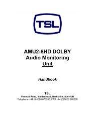 AMU2-8HD DOLBY Audio Monitoring Unit - TSL