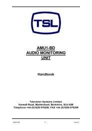 AMU1-BD AUDIO MONITORING UNIT - TSL