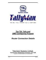 Router Connection Details - TSL
