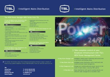 Power Manager Brochure download - TSL