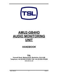 AMU2-GB4HD AUDIO MONITORING UNIT - TSL