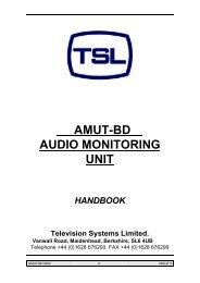 AMUT-BD AUDIO MONITORING UNIT - TSL