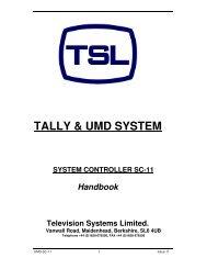 TALLY & UMD SYSTEM - TSL