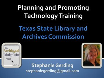 View the Slides (PDF) - Texas State Library and Archives Commission