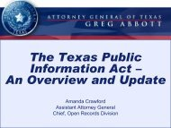 Public Information Act (formerly the Open Records Act)