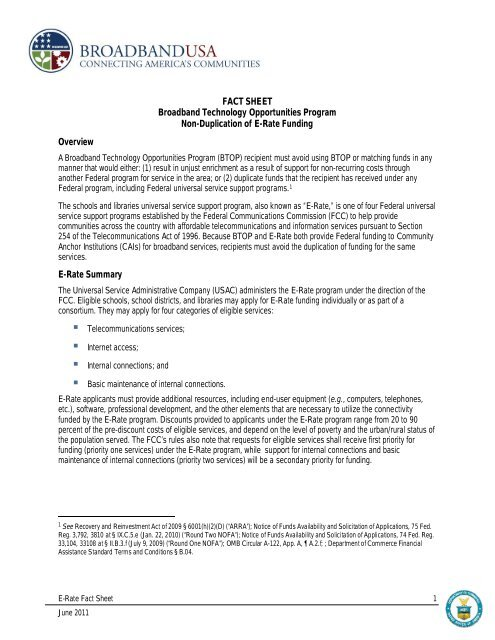ERate and BTOP Funding - Texas State Library and Archives