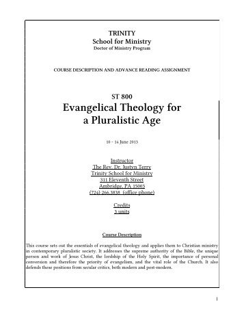 gospel in a pluralistic society pdf