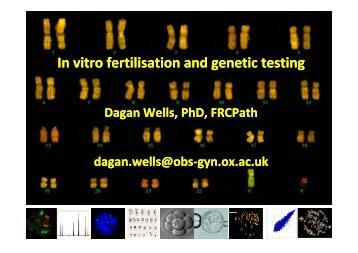 infertility treatments, genes and chromosomes