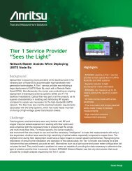 """Tier 1 Service Provider """"Sees the Light"""""""