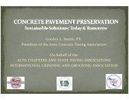 Gordon L. Smith, P.E. President of the Iowa Concrete Paving ... - TSP2