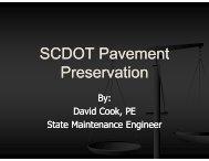 SCDOT Pavement Preservation Preservation - TSP2