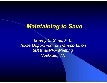 Maintaining to Save - TSP2