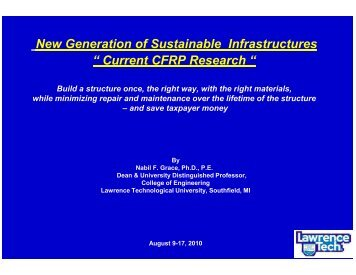 Current CFRP Research - The National Center for Pavement ...