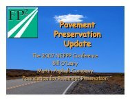 Pavement Preservation Update Pavement Preservation Update - TSP2