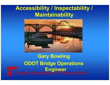 Accessibility / Inspectability / Maintainability