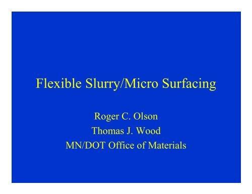 Olson-Wood Microsurfacing - TSP2