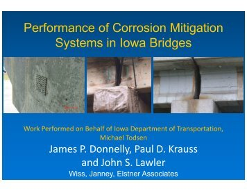 Performance of Corrosion Mitigation Systems in Iowa Bridges
