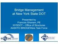 Bridge Management at New York State DOT - The National Center ...