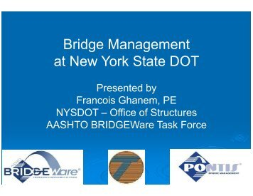 Bridge Management at New York State DOT - The National Center ...