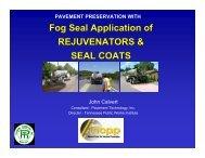 Fog Seal COATINGS - TSP2