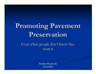 Promoting Pavement Preservation - TSP2