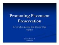 Promoting Pavement Preservation - TSP2