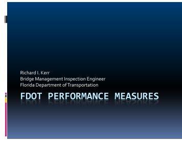 FDOT PERFORMANCE MEASURES