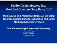 Hydro-Technologies, Inc. Technologies, Inc. Modified Concrete ...