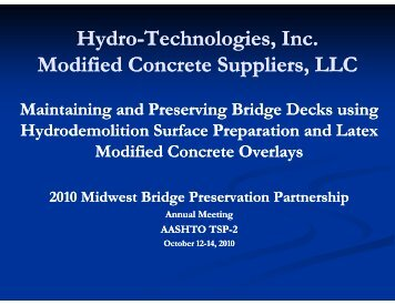 Hydro-Technologies, Inc. Technologies, Inc. Modified Concrete ...