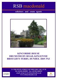 KINCORDIE HOUSE.DRUMSTURDY ROAD, KINGENNIE - TSPC