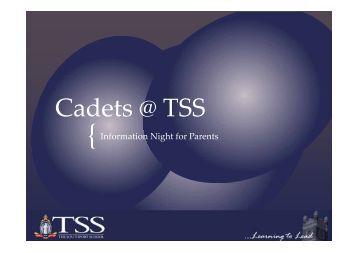 Cadets @ TSS