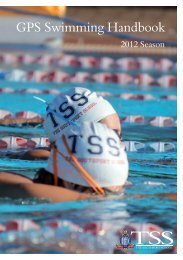 GPS Swimming Handbook - The Southport School