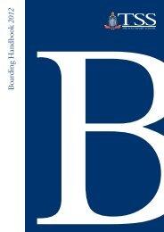 Boarding Handbook 2012 - The Southport School