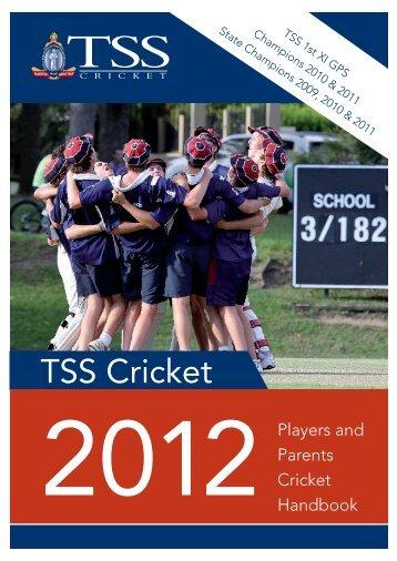 TSS Cricket - The Southport School