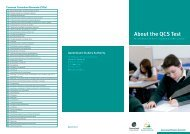 About the QCS Test brochure