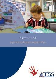 A specialist kindergarten program for boys - The Southport School