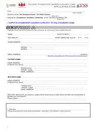 Companion (Student) Application - The Southport School
