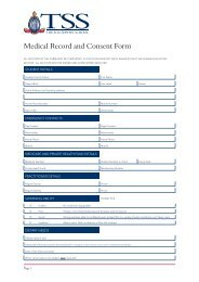 Student Medical Form - The Southport School