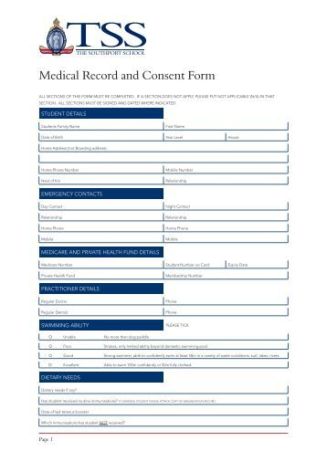 Bsa Medical Form Bsa Medical Health Screening Form Sample Bsa