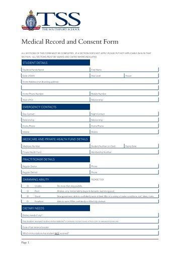 Bsa Medical Form Bsa Medical Health Screening Form Sample Bsa