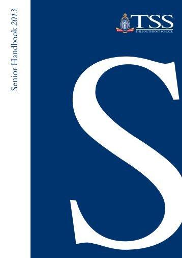 2013 Senior Admissions Handbook - The Southport School