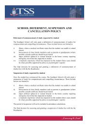 Deferment, Suspension and Cancellation Policy - The Southport ...