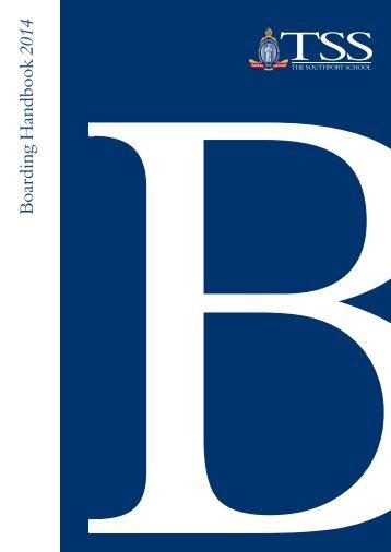 Boarding Handbook 2013 - The Southport School