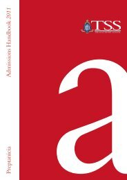 P reptanicia Admissions Handbook 2011 - The Southport School