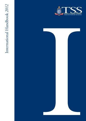 International Student Handbook - The Southport School