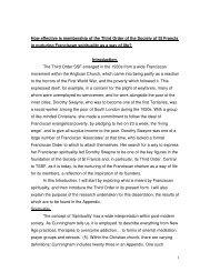 Dissertation on TSSF - the TSSF European Province Website